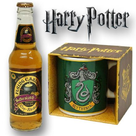 Harry Potter Slytherin Mug with/without a Bottle of Butterscotch Beer